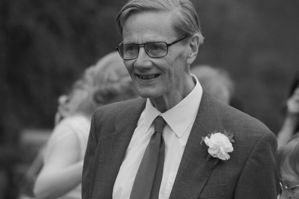 The groom's father